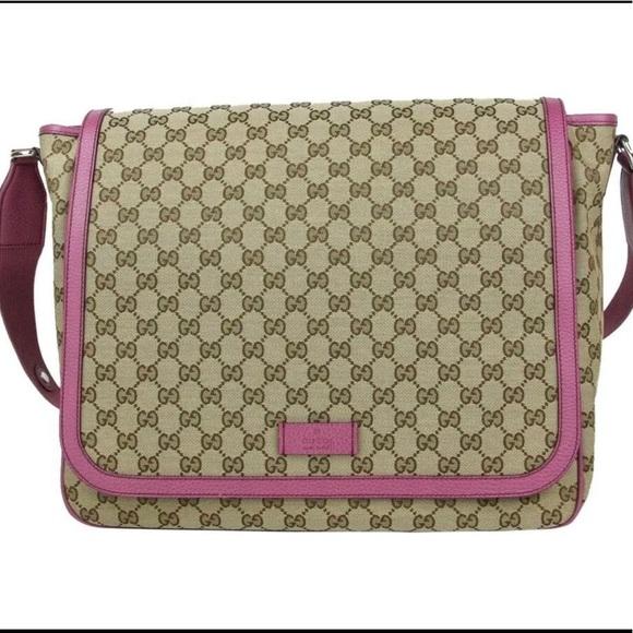 55acdfe300b561 Gucci Bags | Diaper Bag Original Gg Canvas Pink Nwt | Poshmark